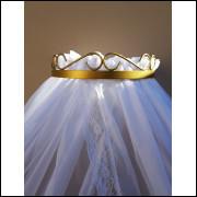 dossel de parede arabesco+cortinado voil