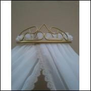 dossel de parede coroa de arabesco+cortinado voil