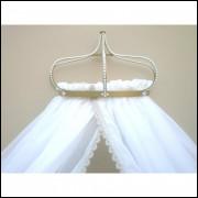 dossel de coroa pérola+cortinado voil